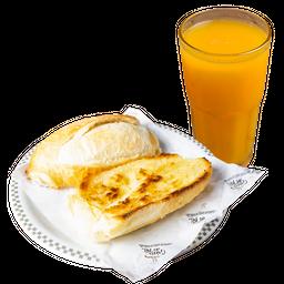 Pão na Chapa + Suco