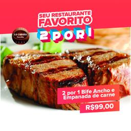 2 x1 Bife Ancho 1p. + 1 Empanada de carne