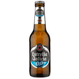 Estrella Galicia Cerveja 0.0% Álcool Long Neck