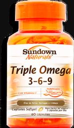 Sundown Naturals Triple Omega 3-6-9 Com 60 Comprimidos