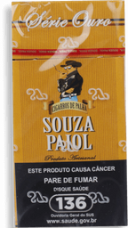 Cig Palha Souza Paiol Ouro Pt 10x18
