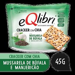 Biscoito Cracker Chia Mussarela de Búfala Manjericão Eqlibri 45g