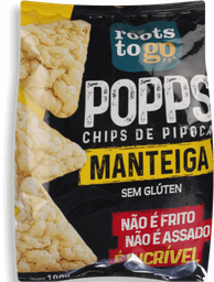 Snack Roots To Go Popps Manteiga 100 g