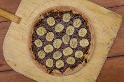 Pizza de Chocolate com Banana