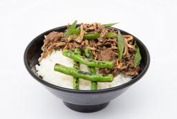 Carne com Shimeji