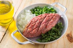 100g Kibe Cru + Salada Tabule + Coalhada + Torradas