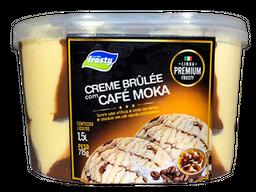 Sorvete de Creme Brûlée e Café Moka - 1,5L