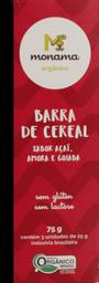 Barra De Cereal Ôrganica Açaí, Amora E Goiaba Monama 3 U De 25 g
