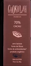 Chocolate CHOKOLAH Organico Amargo 70% Cacau