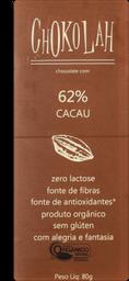 Chocolate CHOKOLAH OrganicoAmargo 62% Cacau
