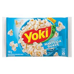 Popcorn Yoki Microondas Natural Manteiga 90 g
