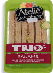 Sand Nat Atelie Do Sabor Trio Salame