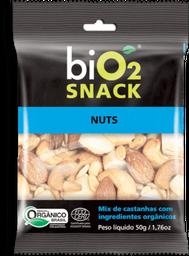 Snack Orgânico Sabor Castanha Nuts BIO2 Caixa 50 g