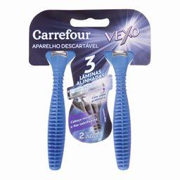 Aparelho Barba Desc Carrefour Vexo 3Lam 2Un