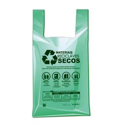 Sacola Plástica Verde Sem Logo 48X55 cm