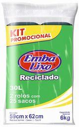 Embalixo Kit 2 Rolos de Saco de Lixo Preto