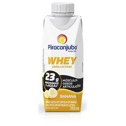 Bebida Láctea Whey Banana Zero Lactose Piracanjuba 250 mL