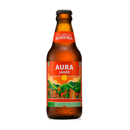 Cerveja Aura Lager Bohemia Garrafa 300 mL