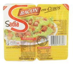 Bacon Em Cubos Seara 140 gr