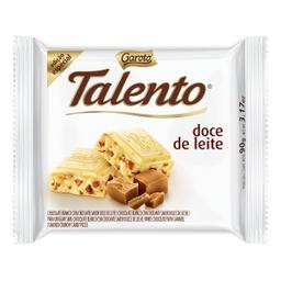 Barra De Chocolate Branco Com Doce De Leite Talento 90 g