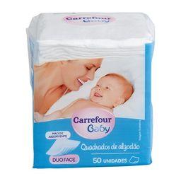Algodão Quadrado Carrefour Maxi Bebe 50 Und