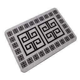 Capacho Geometrico Alklin Cinza 40X60