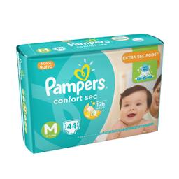 Fralda Pampers M Confort Sec Mega 44 Und