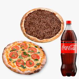 50% OFF - Pizza Grande e Pizza Doce mais Refrigerante - 2L