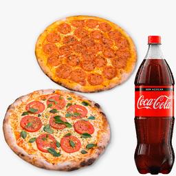 Combo Família: 2 Pizzas Grandes mais 2 Refrigerantes - 2L