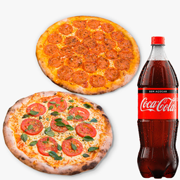 Combo Família: 2 Pizzas Grandes + 2 Refrigerantes 2L