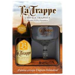 Cerveja La Trappe Blond 1 Garrafa Com 1 Taça 330 mL