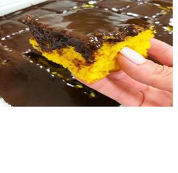 Bolo De Cenoura Com Chocolate  - Fatia