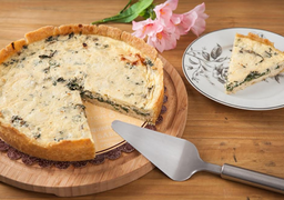 Quiche Low Carb de Espinafre e Gorgonzola