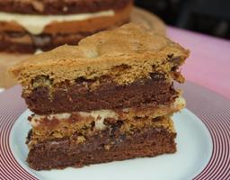 Bolo Brownie e Cookie