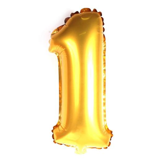 Regina Balão Metalizado Minischape Número 1 Dourado