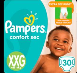 Fralda Pampers Confort Sec Tamanho Xxg Com 30 Unid