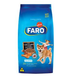 Ração Faro para Cães Filhotes Sabor Carne e Frango (2Kg)