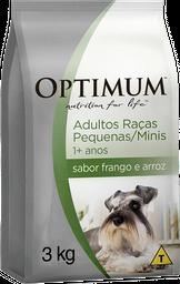 Ração Optimum para Cães Adultos de Raças Pequenas sabor Frango e