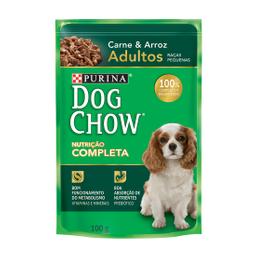 Ração Úmida Dog Chow Sabor Carne para Cães Adultos de Raças Pequ