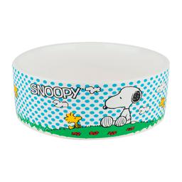 Comedouro Zooz Pets Cerâmica Snoopy Charlie Brown para Cães