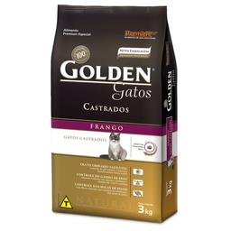 Ração Golden para Gatos Adultos Castrados Sabor Frango (3Kg)