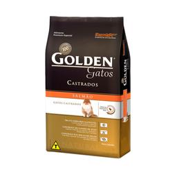 Ração Golden para Gatos Adultos Castrados Sabor Salmão (3Kg)