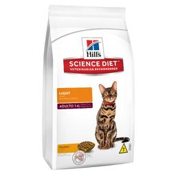 Ração Hills Science Diet Light Para Gatos Adultos Com Mais De 1
