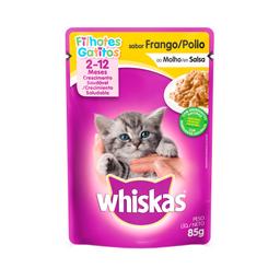 Ração Úmida Whiskas Sachê para Gatos Filhotes Sabor Frango ao Mo
