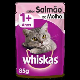 Ração Úmida Whiskas Sachê para Gatos Adultos Sabor Salmão ao Mol