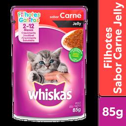 Ração Úmida Whiskas Sachê Jelly para Gatos Filhotes Sabor Carne