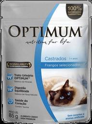 Ração Umida Optimum Sachê para Gatos Castrados Sabor Frango - 85