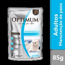 Ração Úmida Optimum Sachê Gatos Adultos Manutenção de Peso 85g