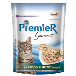 Ração Úmida Premier Gourmet Para Gatos sabor Peito de Frango e A