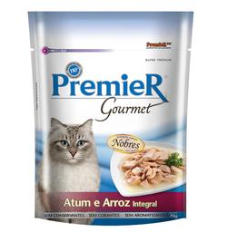 Ração Úmida Premier Gourmet Para Gatos sabor Atum e Arroz integr